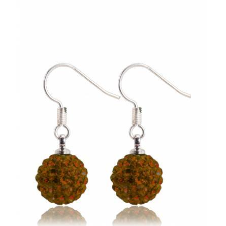 Boucles d'oreilles cristal orange foncé Palmyr