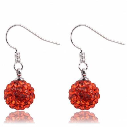 Boucles d'oreilles cristal rouge Pakota