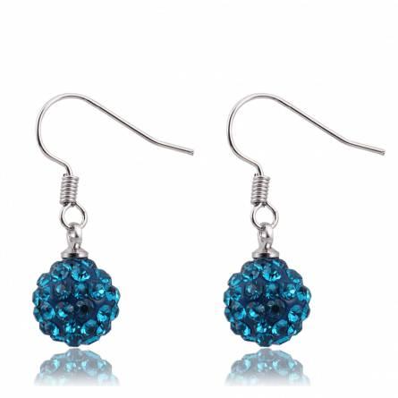 Boucles d'oreilles cristal turquoise Charlély