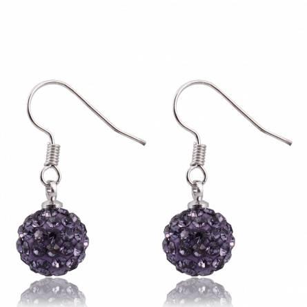 Boucles d'oreilles cristal violet Pacific