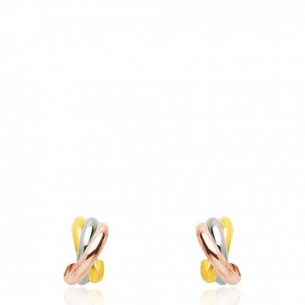 Boucles d'oreilles croisés 3 ors