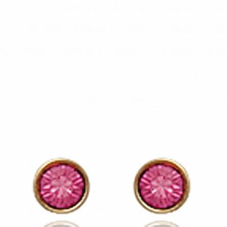 Boucles d'oreilles Dania roses