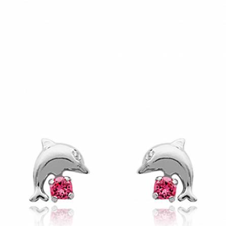 Boucles d'oreilles dauphin celeste 2