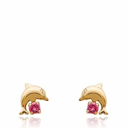Boucles d'oreilles dauphin diva
