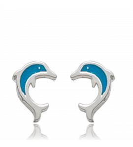 Boucles d'oreilles dauphins mini