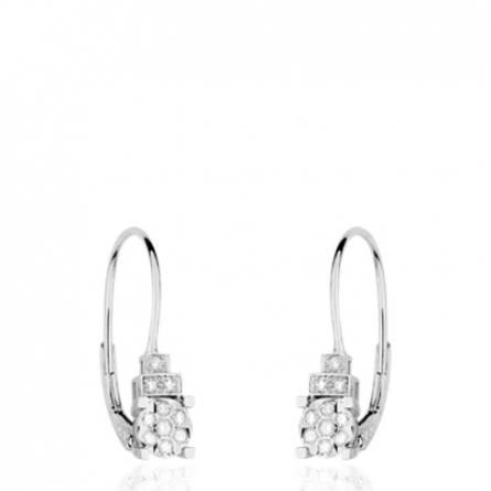 Boucles d'oreilles dormeuses Or et Diamants