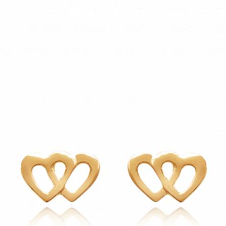 Boucles d'oreilles duel de coeur aimant