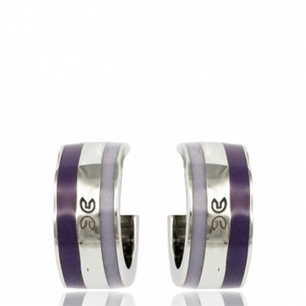 Boucles d'oreilles email violet Clyda Ursine