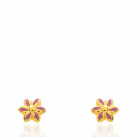 Boucles d'oreilles enfant Zemia rose