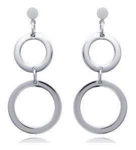 Boucles d'oreilles femme acier Cecília ronde