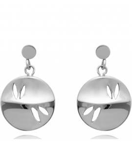 Boucles d'oreilles femme acier Cecily ronde