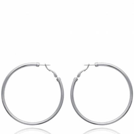 Boucles d'oreilles femme acier Charla créoles