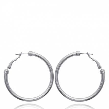 Boucles d'oreilles femme acier Joséphine  créoles