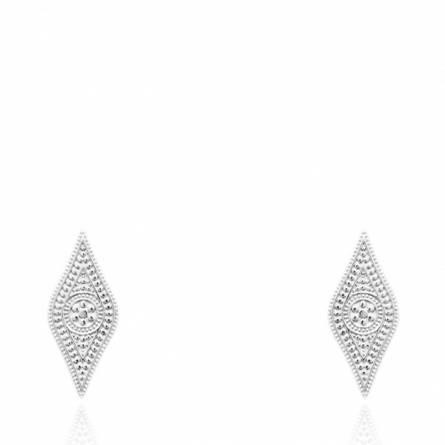 Boucles d'oreilles femme Amaneh losange
