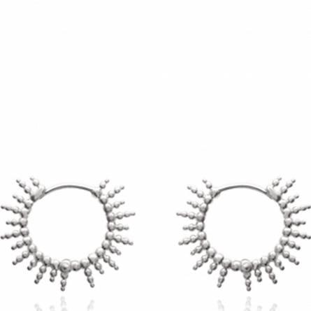 Boucles d'oreilles femme argent Agrippine ronde