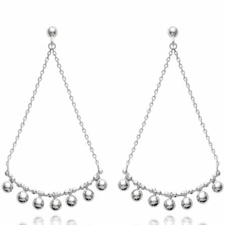 Boucles d'oreilles femme argent Aimable