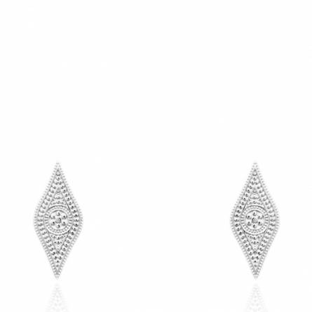Boucles d'oreilles femme argent Amaneh losange