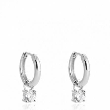Boucles d'oreilles femme argent Anavela créoles