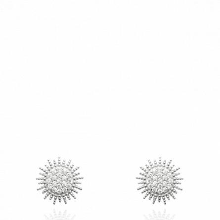 Boucles d'oreilles femme argent Aumotte ronde