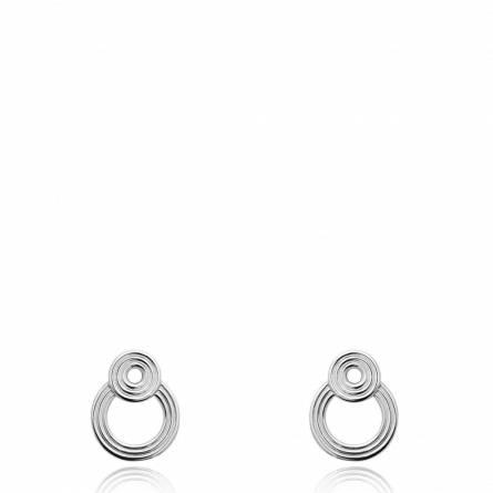 Boucles d'oreilles femme argent Benila ronde