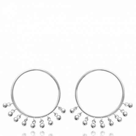 Boucles d'oreilles femme argent Benya ronde