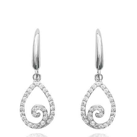 Boucles d'oreilles femme argent Caramia
