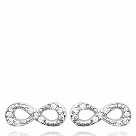 Boucles d'oreilles femme argent Caren infini
