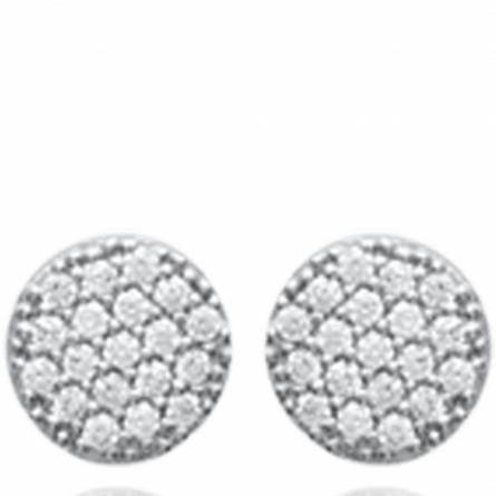 Boucles d'oreilles femme argent Caris ronde