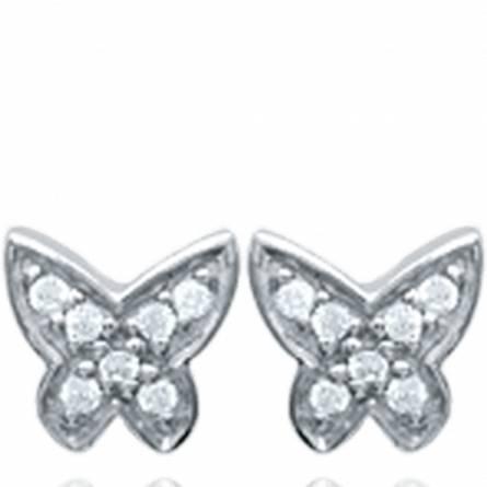 Boucles d'oreilles femme argent Carissa