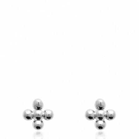 Boucles d'oreilles femme argent Carmelienne croix