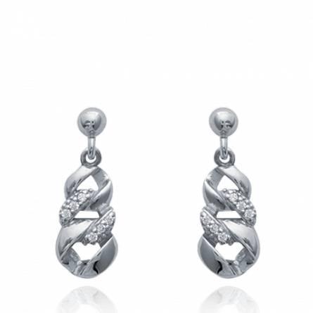 Boucles d'oreilles femme argent Cassarah