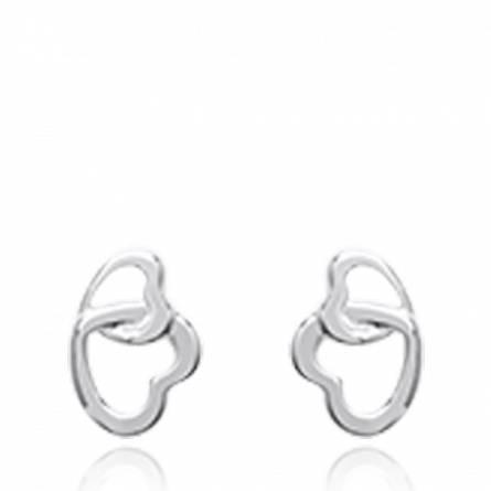 Boucles d'oreilles femme argent Cecelia coeur