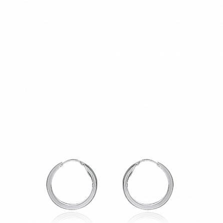 Boucles d'oreilles femme argent Celina créoles