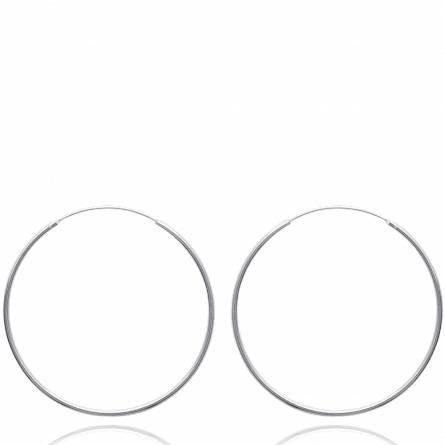 Boucles d'oreilles femme argent Chandrakanta créoles