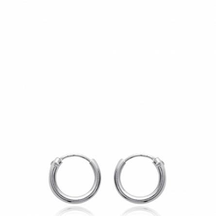 Boucles d'oreilles femme argent Chanté créoles
