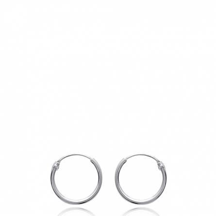 Boucles d'oreilles femme argent Charity créoles