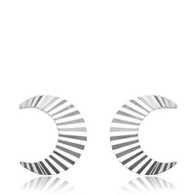 Boucles d'oreilles femme argent Demi cercle
