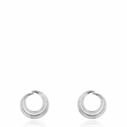 Boucles d'oreilles femme argent Dessena ronde