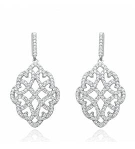 Boucles D'oreilles Dentelle diamond