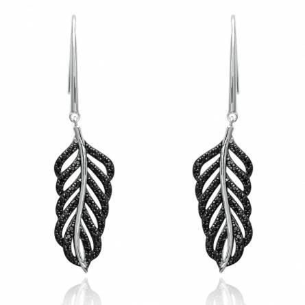 Boucles d'oreilles femme argent Dylis gris