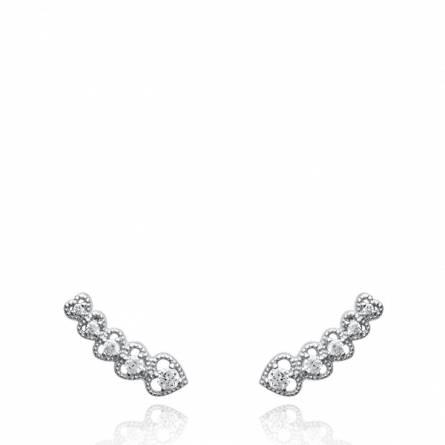 Boucles d'oreilles femme argent Eduarda gris