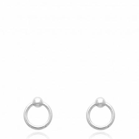 Boucles d'oreilles femme argent Eghali ronde