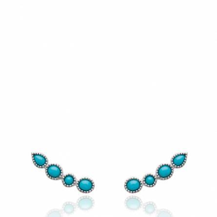 Boucles d'oreilles femme argent Endeis bleu