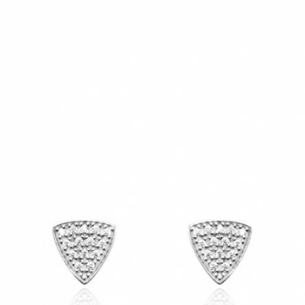 Boucles d'oreilles femme argent Freny triangle