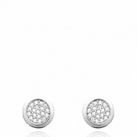 Boucles d'oreilles femme argent Giana ronde