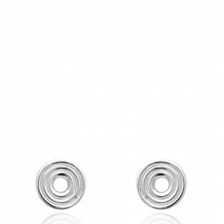 Boucles d'oreilles femme argent Jussia ronde
