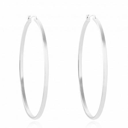 Boucles d'oreilles femme argent Ledaoui créoles
