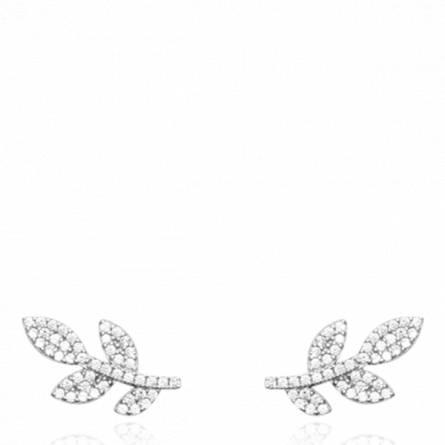 Boucles d'oreilles femme argent Leyman