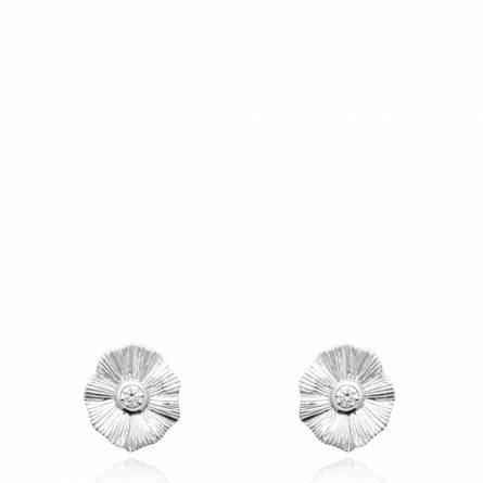 Boucles d'oreilles femme argent Lunida
