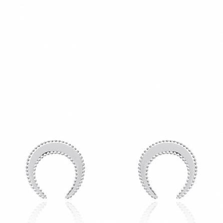 Boucles d'oreilles femme argent Lusis arrondie